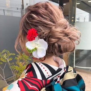 【MICHI 富田店 古作 蓮】成人式hair set