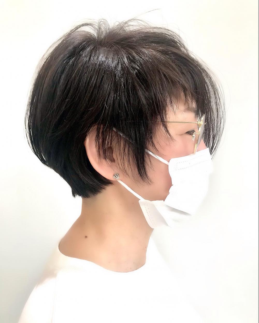 【felice MICHI榎本信也】白髪染め大人ショート