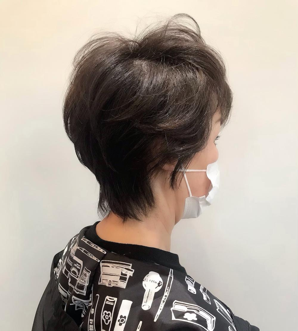 【felice MICHI榎本信也】白髪染めミセスショート
